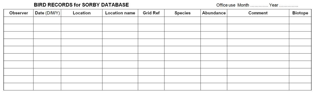 image of blank recording sheet