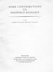 1956 Contributions to Sheffield Ecology